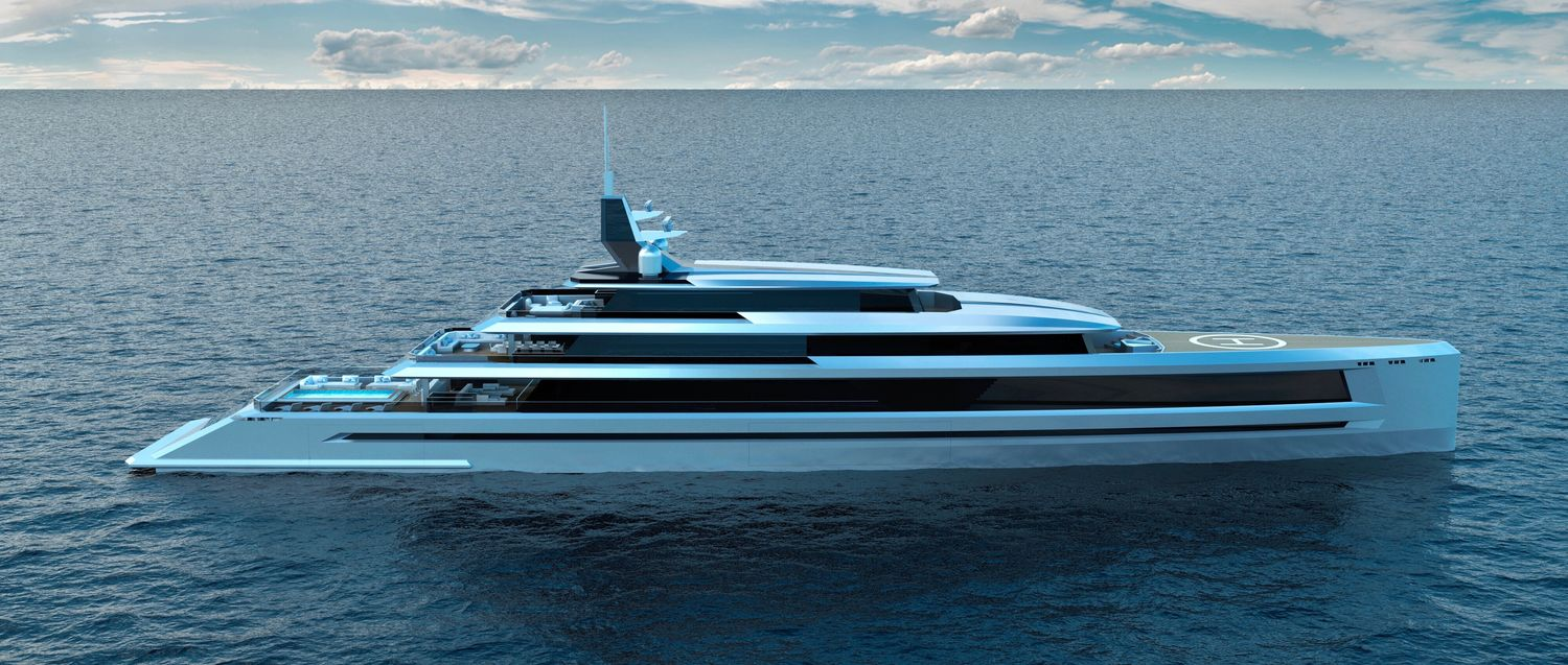 SUNSET the 80m super yacht concept